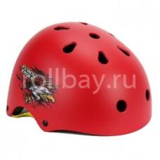Шлем для роликов и самоката Flying Eagle детский размер. Красный