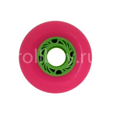 Колеса для слайдов  One Piece 80mm/88А. Розовые. Без принта