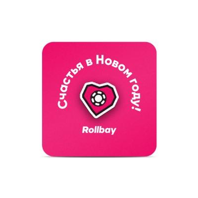 Значок (пин) Rollbay. Слайды в магазине Rollbay.ru