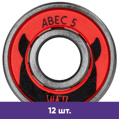 Подшипники для роликов Powerslide Wicked ABEC-5 (12 шт.) в магазине Rollbay.ru