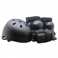 Комплект детской защиты + Шлем Clean размер S. Черный