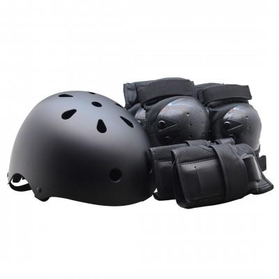 Комплект детской защиты + Шлем Clean размер S. Черный в магазине Rollbay.ru