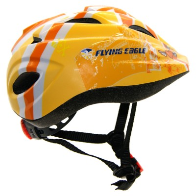 Шлем для роликов и самоката детский Flying Eagle V5. Желтый в магазине Rollbay.ru