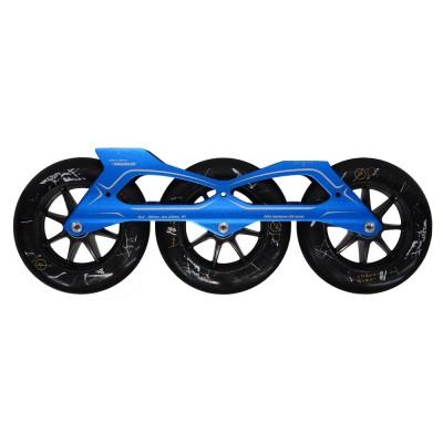 Сет для роликов PowerSlide Megacruiser PRO 3x125mm/88А. Синий в магазине Rollbay.ru
