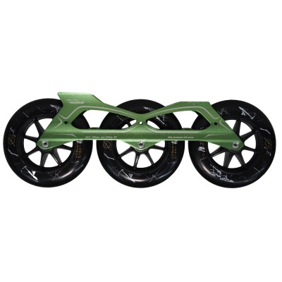 Сет для роликов PowerSlide Megacruiser PRO 3x125mm/88А. Зеленый в магазине Rollbay.ru