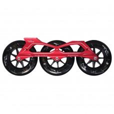 Сет для роликов PowerSlide Megacruiser PRO 3x125mm/88А. Красный