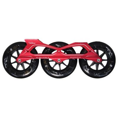 Сет для роликов PowerSlide Megacruiser PRO 3x125mm/88А. Красный в магазине Rollbay.ru