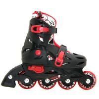 Роликовые коньки детские раздвижные BKB APEX. Черный