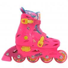 Роликовые коньки детские раздвижные BKB APEX. Розовый