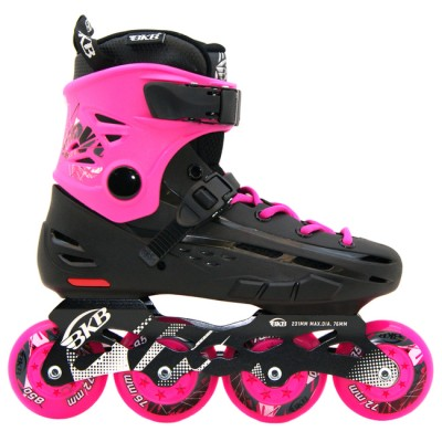 Купить Фристайл ролики Роликовые коньки женские взрослые BKB B5. Розовый в магазине RollBay.ru