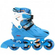 Роликовые коньки детские раздвижные  BKB K7. Голубой