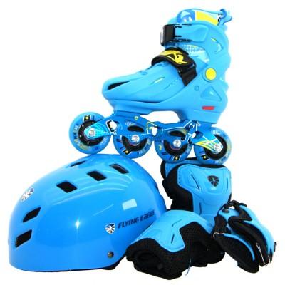 Купить Роликовые коньки Ролики Flying Eagle NT Combo + защита. Синий в магазине RollBay.ru
