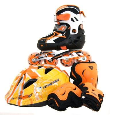 Купить Flying Eagle Ролики Flying Eagle V5 Combo + защита. Оранжевый в магазине RollBay.ru