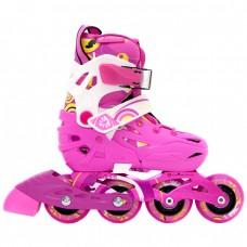 Роликовые коньки детские раздвижные Flying Eagle S5S. Розовый
