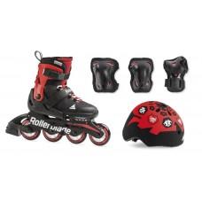Роликовые коньки детские раздвижные Rollerblade Cube Набор с защитой