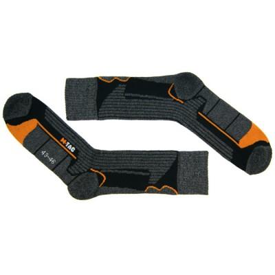 Носки серо-оранжевые Blockpost CoolMax в магазине Rollbay.ru
