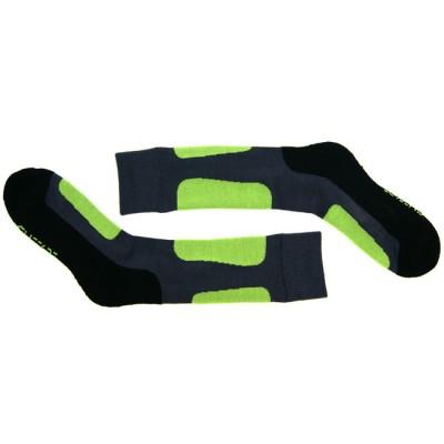 Носки для катания на роликах Glissade серо-зеленые в магазине Rollbay.ru