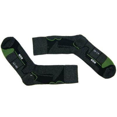 Носки для катания на роликах CoolMax HSN серо-зеленые в магазине Rollbay.ru