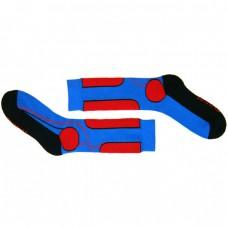 Носки для катания на роликах спортивные красно-синие