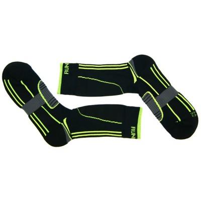 Носки для катания на роликах Running черно-зеленые в магазине Rollbay.ru