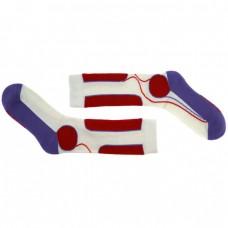 Носки для катания на роликах спортивные бело-фиолетовые