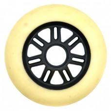Колеса для роликов и самоката NoName 100mm/85А. Белый(черная ступица)