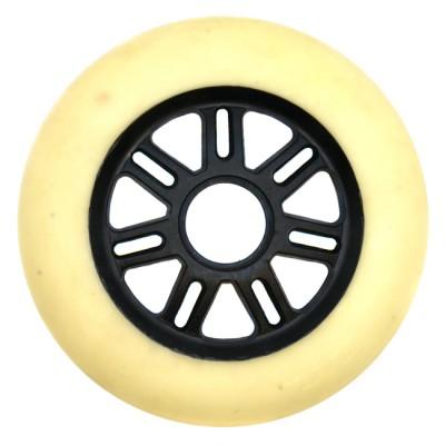 Купить Колеса для самокатов Колеса для роликов и самоката NoName 100mm/85А. Белый(черная ступица) в магазине RollBay.ru