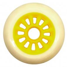 Колеса для роликов и самоката NoName 100mm/85А. Белый(цветная ступица)