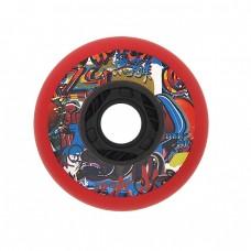 Колеса для роликовых коньков Fallen 80mm/90А. Красный