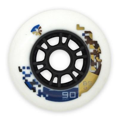 Колеса для роликов Flying Eagle Speed 90mm/85А. Белый в магазине Rollbay.ru
