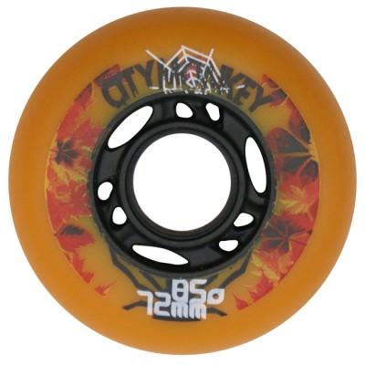 Колеса для роликовых коньков CityMonkey 72-76mm/85A. Оранжевый в магазине Rollbay.ru