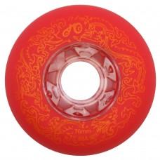 Колеса для роликовых коньков Dragon 72-80mm/89A. Красный