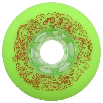 Купить Колеса для слайдов Колеса для роликов Dragon 72-80mm/89A. Зеленый в магазине RollBay.ru