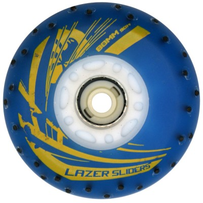 Колеса для роликов светящиеся Flying Eagle Lazer Sliders +Spark 80mm/90А. Синий в магазине Rollbay.ru