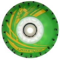 Колеса для роликов светящиеся Flying Eagle Lazer Sliders +Spark 80mm/90А. Зеленый