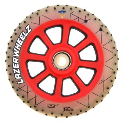 Колеса для роликов светящиеся Flying Eagle LazerWheelz +Spark 125mm/88А. Красный в магазине Rollbay.ru
