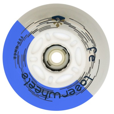 Колеса для роликов светящиеся Flying Eagle LazerWheelz 72-80mm/88A. Синий в магазине Rollbay.ru