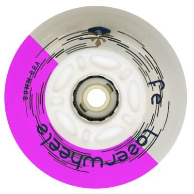 Колеса для роликов светящиеся Flying Eagle LazerWheelz 72-80mm/88A. Фиолетовый в магазине Rollbay.ru