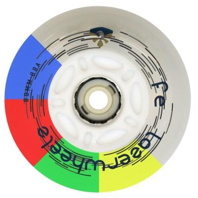 Колеса для роликов светящиеся Flying Eagle LazerWheelz 72-80mm/88A. Мультицвет в магазине Rollbay.ru