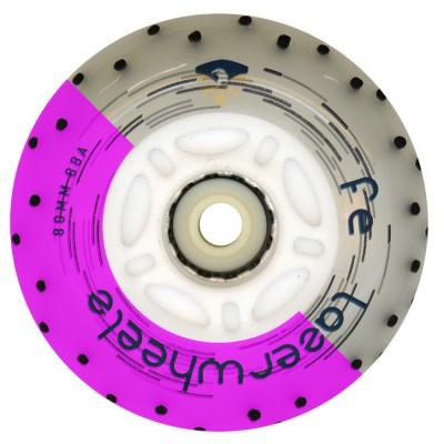 Колеса для роликов светящиеся Flying Eagle LazerWheelz +Spark 80mm/88A. Фиолетовый в магазине Rollbay.ru