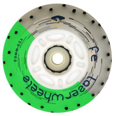 Колеса для роликов светящиеся Flying Eagle LazerWheelz +Spark 80mm/88A. Зеленый в магазине Rollbay.ru