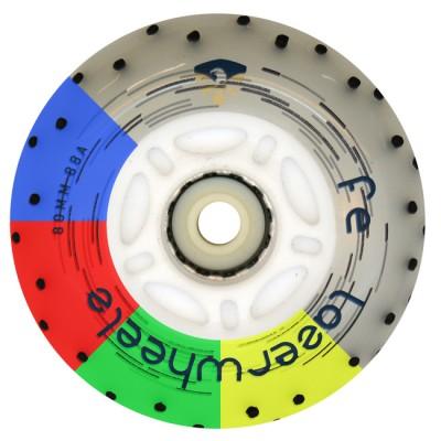 Колеса для роликов светящиеся Flying Eagle LazerWheelz +Spark 80mm/88A. Мультицвет в магазине Rollbay.ru
