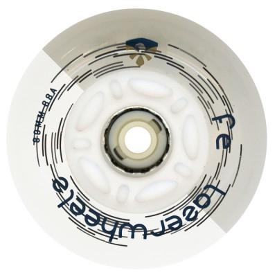 Колеса для роликов светящиеся Flying Eagle LazerWheelz 72-80mm/88A. Белый в магазине Rollbay.ru