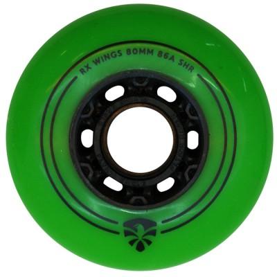 Колеса для роликовых коньков Flying Eagle RX Wings 72-80mm/86А. Зеленый в магазине Rollbay.ru