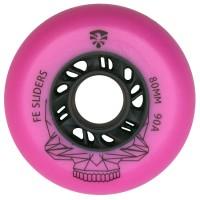 Колеса для роликовых коньков Flying Eagle Sliders 72-80mm/90А. Розовый
