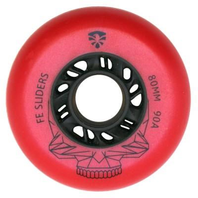Колеса для роликовых коньков Flying Eagle Sliders 72-80mm/90А. Красный в магазине Rollbay.ru