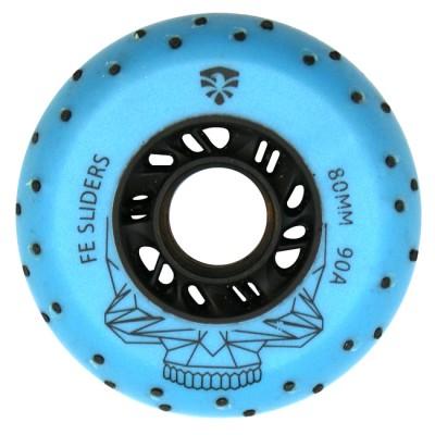 Колеса для роликов Flying Eagle Sliders +Spark 80mm/90A. Синий в магазине Rollbay.ru
