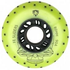 Колеса для роликов Flying Eagle Sliders +Spark 80mm/90A. Зеленый