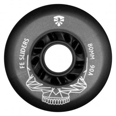 Колеса для роликовых коньков Flying Eagle Sliders 72-80mm/90А. Черный в магазине Rollbay.ru