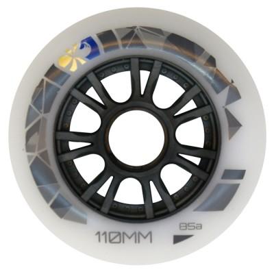 Колеса для роликов Flying Eagle Speed 110mm/85А. Белый в магазине Rollbay.ru